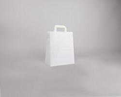 Papírová taška BS CRAFT - 26 x 32 x 14 cm - bílá