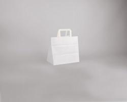 Papírová taška BS CRAFT - 26 x 24,5 x 17 cm - bílá