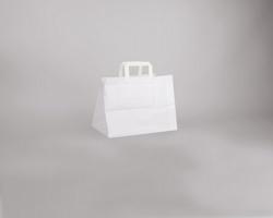Papírová taška BS CRAFT - 31,5 x 24,5 x 21,5 cm - bílá