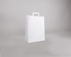 Papírová taška BS CRAFT - 32 x 42 x 14 cm - bílá