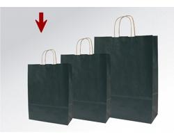 Papírová taška ECO NERO - 18 x 25 x 8 cm