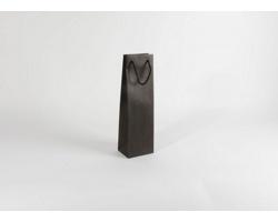 Papírová taška na víno GLASS NERO - 12 x 40 x 9 cm
