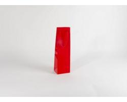 Papírová taška na víno GLASS ROSSO - 12 x 40 x 9 cm