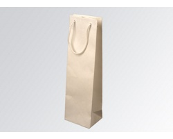 Papírová taška na víno GLASS BIANCO - 12 x 40 x 9 cm