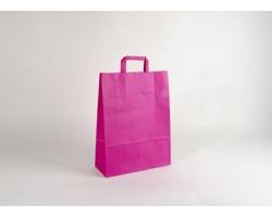 Papírová taška HAPPY PINK - 32 x 42,5 x 13 cm