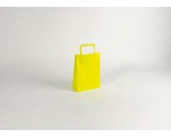 Papírová taška HAPPY YELLOW / GREEN - 18 x 25 x 8 cm