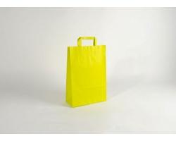 Papírová taška HAPPY YELLOW / GREEN - 26 x 38 x 11 cm