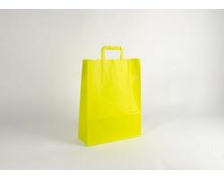 Papírová taška HAPPY YELLOW / GREEN - 32 x 42,5 x 13 cm