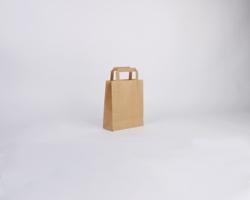 Papírová taška HS CRAFT - 18 x 22 x 8 cm - hnědá