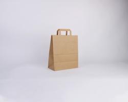Papírová taška HS CRAFT - 26 x 32 x 14 cm - hnědá