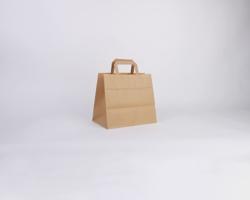 Papírová taška HS CRAFT - 26 x 24,5 x 17 cm - hnědá