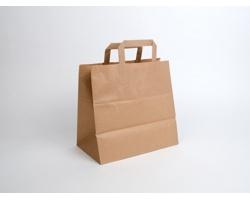 Papírová taška HS CRAFT - 28 x 27 x 17 cm - hnědá