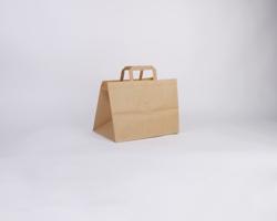 Papírová taška HS CRAFT - 31,5 x 24,5 x 21,5 cm - hnědá