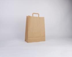 Papírová taška HS CRAFT - 32 x 42 x 14 cm - hnědá