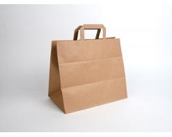 Papírová taška HS CRAFT - 32 x 28 x 20 cm - hnědá