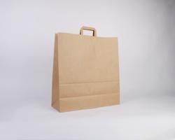 Papírová taška HS CRAFT - 45 x 48 x 17 cm - hnědá