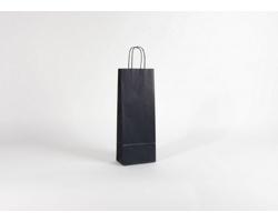 Papírová taška na víno LONGER BLUE - 15 x 40 x 8 cm