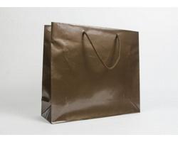 Papírová taška LUX QUADRA - 42 x 37 x 13 cm - bronzová
