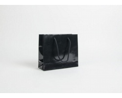Papírová taška LUX QUADRA - 24 x 20 x 9 cm - černá