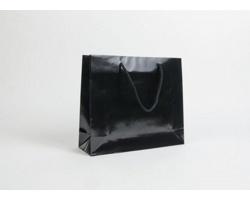 Papírová taška LUX QUADRA - 32 x 27,5 x 10 cm - černá