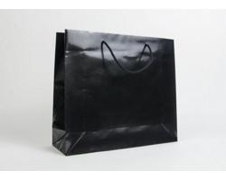 Papírová taška LUX QUADRA - 42 x 37 x 13 cm - černá