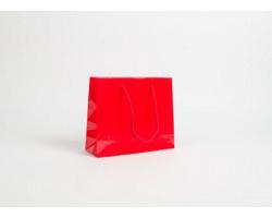 Papírová taška LUX QUADRA - 24 x 20 x 9 cm - červená
