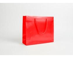 Papírová taška LUX QUADRA - 32 x 27,5 x 10 cm - červená