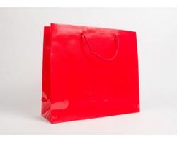 Papírová taška LUX QUADRA - 42 x 37 x 13 cm - červená