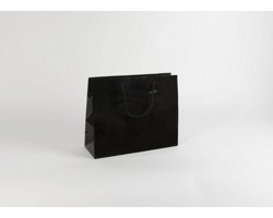Papírová taška M2 BLACK - 38 x 31 x 13 cm