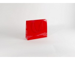 Papírová taška M2 RED - 32 x 27,5 x 10 cm
