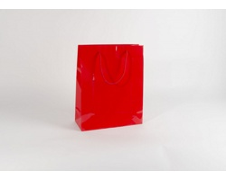 Papírová taška M2 RED - 32 x 40 x 13 cm