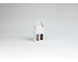 Papírová krabice na 2 vinné miniatury MINI WHITE - 12 x 18,5 x 6 cm - bílá