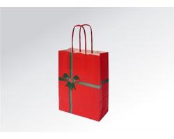 Vánoční papírová taška NATALE - 18 x 25 x 8 cm