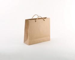 Papírová taška NATURA LUX - 32 x 27,5 x 10 cm - přírodní hnědá
