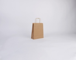 Papírová taška NATURA TWIST - 18 x 24 x 8 cm - hnědá