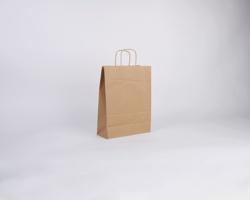 Papírová taška NATURA TWIST - 24 x 33 x 11 cm - hnědá