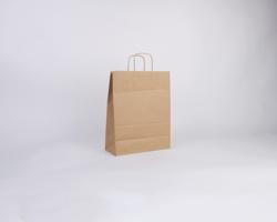 Papírová taška NATURA TWIST - 26 x 34 x 12 cm - hnědá
