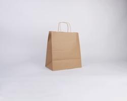 Papírová taška NATURA TWIST - 30,5 x 34 x 17 cm - hnědá