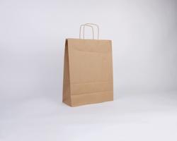 Papírová taška NATURA TWIST - 32 x 42 x 14 cm - hnědá