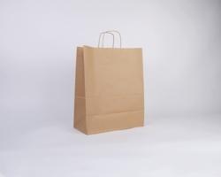 Papírová taška NATURA TWIST - 35 x 44 x 18 cm - hnědá