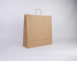 Papírová taška NATURA TWIST - 45 x 48 x 17 cm - hnědá