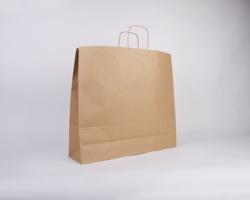 Papírová taška NATURA TWIST - 54 x 49 x 15 cm - hnědá