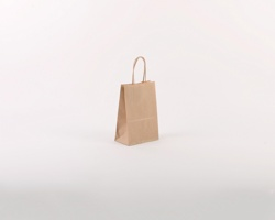 Papírová taška NATURA S - 14 x 21 x 8 cm - hnědá