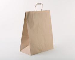 Papírová taška NATURA S - 35 x 44 x 18 cm - hnědá