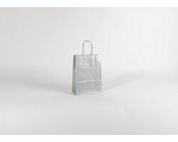 Papírová taška SILVER EKO - 18 x 25 x 8 cm