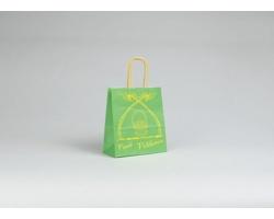 Papírová taška VELIKONOCE - 18 x 20 x 8 cm - zelená