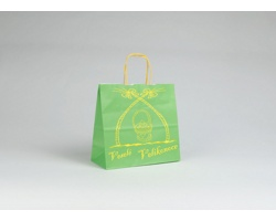 Papírová taška VELIKONOCE - 24 x 25 x 11 cm - zelená