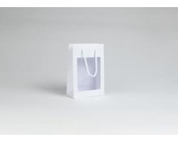 Papírová taška VISTA WHITE - 16 x 24 x 8 cm - bílá