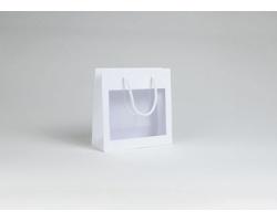 Papírová taška VISTA WHITE - 23 x 23 x 9 cm - bílá