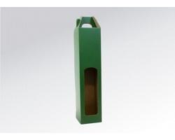 Papírová krabice na 1 lahev vína WINEBOX GREEN - 8 x 31 x 8 cm